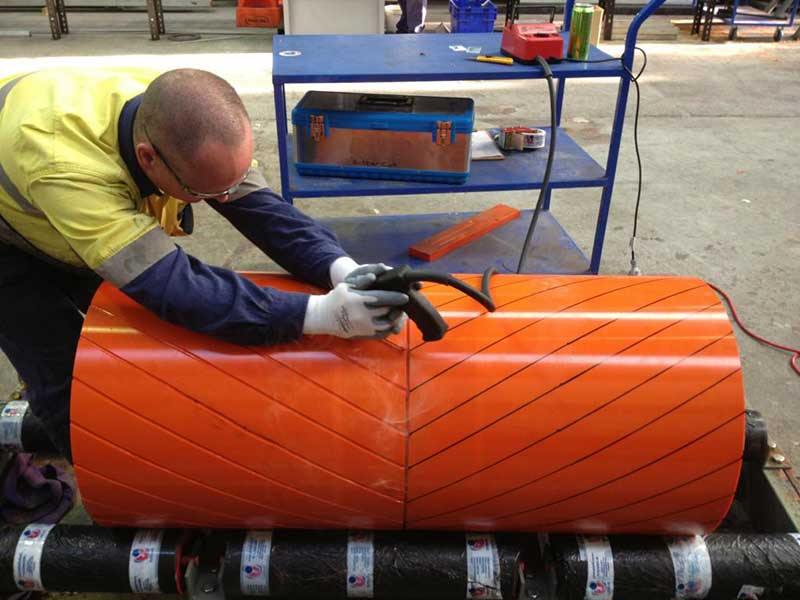 conveyor belt pulley lagging
